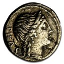 Roman Republic AR Denarius Heren. (108-107 BC) Ch VF (Cr-308/1b)