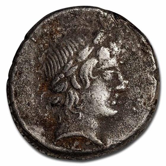 Roman Republic AR Denarius L. Censorinus (82 BC) VF (Cr-363/1d)