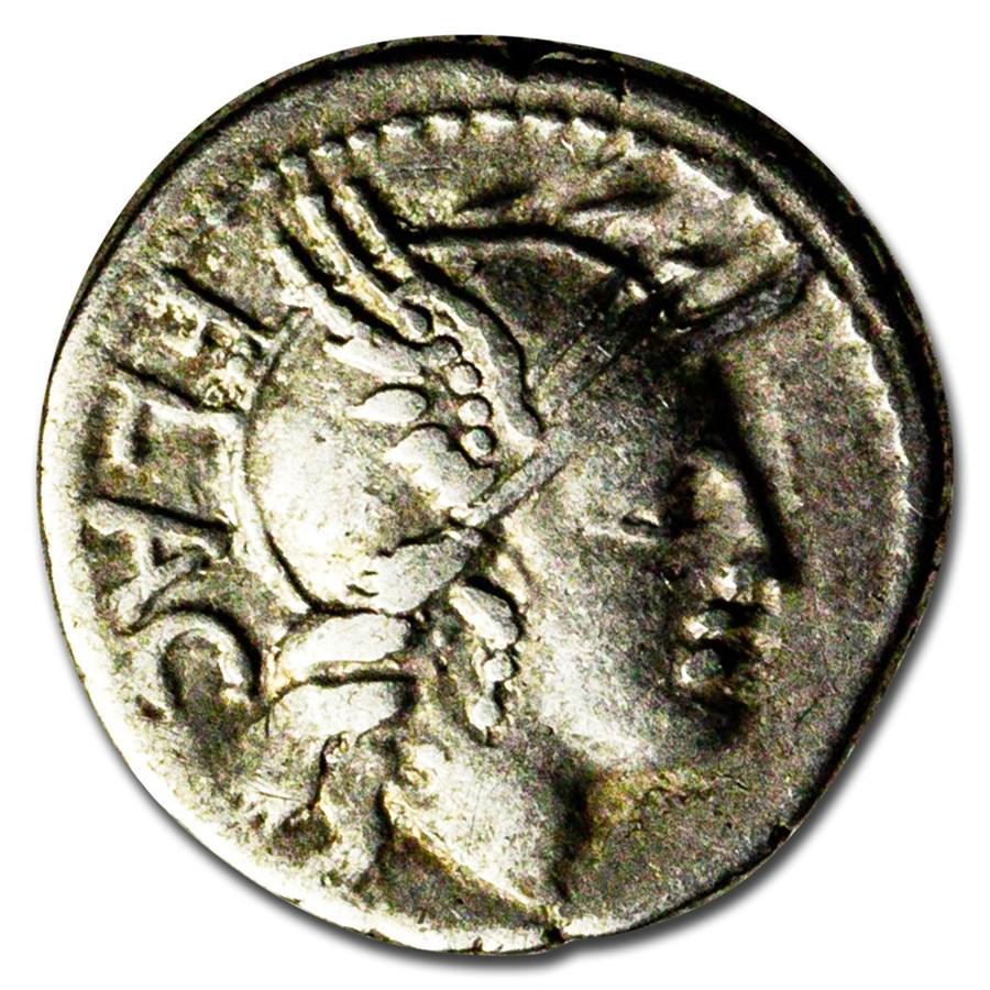 Roman Republic AR Denarius L. Flaccus (77 BC) VF (Crawford-387/1)