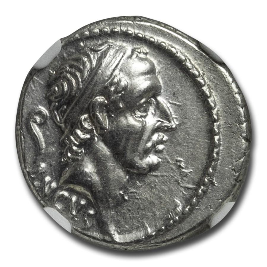 Roman Republic AR Denarius L. Marcius Philippus (57 BC) Ch AU NGC