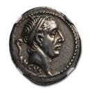 Roman Republic AR Denarius L. Marcius Philippus (57 BC) Ch XF NGC
