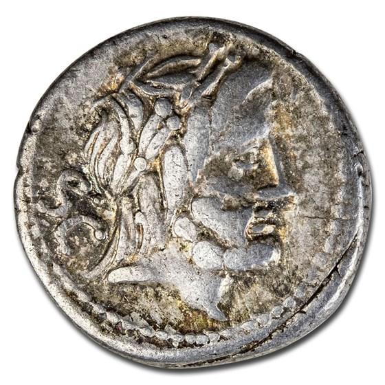 Roman Republic AR Denarius L. Procilius (80 BC) VF (Cr-379/1)