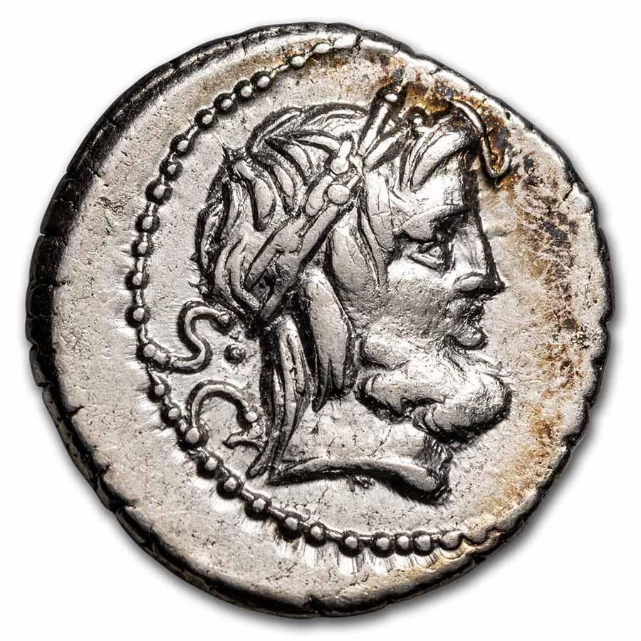 Roman Republic AR Denarius L. Procilius (80 BC) XF (Cr-379/1)