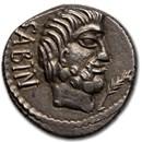 Roman Republic AR Denarius L. Sabinus (89 BC) AU (Cr-344/2b)