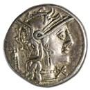 Roman Republic AR Denarius M. Opimius (131 BC) Ch XF (Cr-254/1)