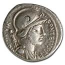 Roman Republic AR Denarius P. Capito (55 BC) Ch VF (Cr-429/1)