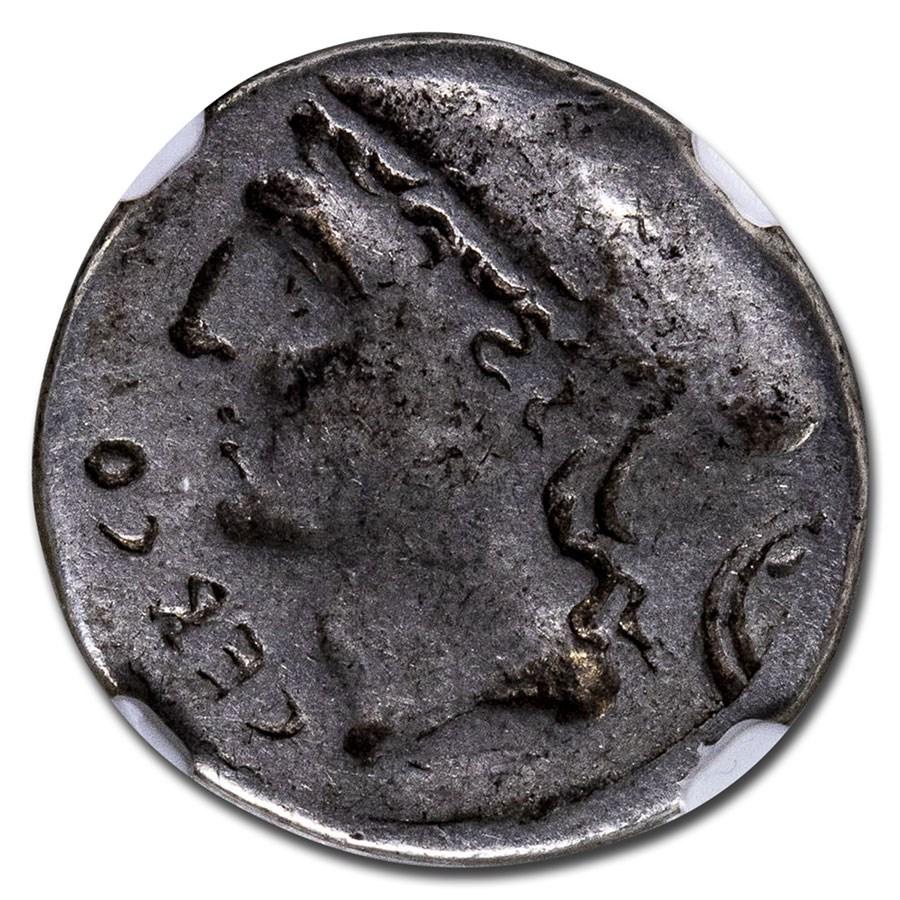 Roman Republic AR Denarius Q.Lutat. Cero (c. 109/8 BC) VG NGC