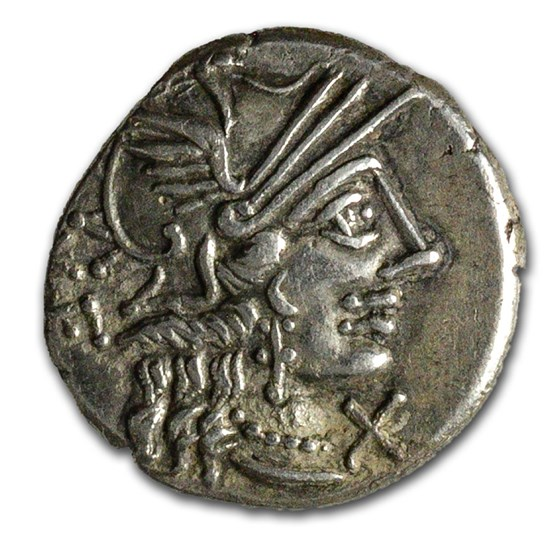 Roman Republic AR Denarius Q. Rufus (122 BC) XF (Cr-277/1)