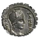 Roman Republic AR Denarius Serr. Mn. Aquillius (71/65 BC) MS NGC