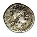 Roman Republic AR Denarius T. Cloelius (128 BC) Ch VF
