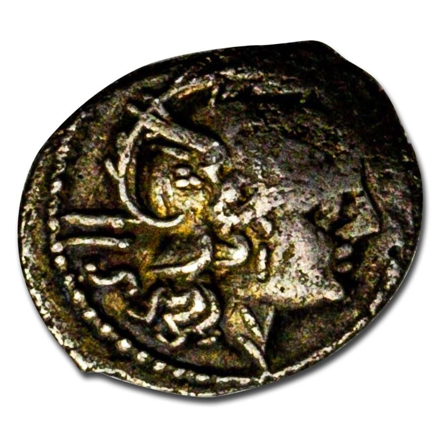 Roman Republic AR Sestertius (211 BC) VF (Crawford-44/7)