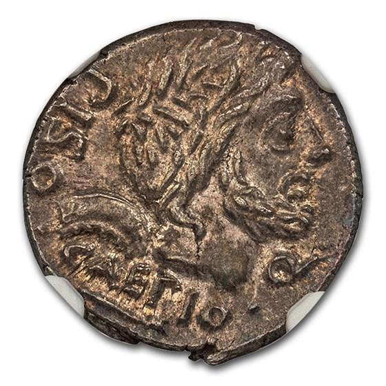 Roman Republic Denarius c. 100 BC MS NGC