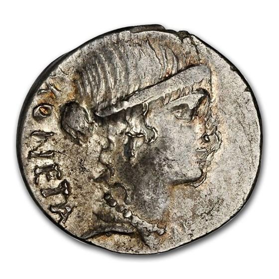 Roman Republic Denarius c. 46 BC T. Carisius MS NGC