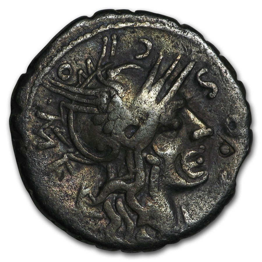 Roman Republic Silver AR Denarius (C.118 BC) Ch Fine
