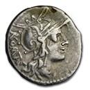 Roman Republic Silver AR Denarius M. Tullius (C.120 BC) Ch Fine