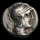 Roman Republic Silver AR Denarius Q. Philippus (C.129 BC) VF
