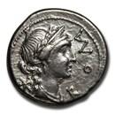 Roman Republic Silver Denarius (114-113 BC) VF (Crawford 291/1)