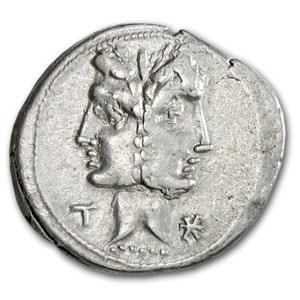 Roman Republic Silver Denarius (114-113 BC) VF