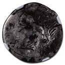 Roman Republic Silver Denarius (114-113 BC) VG NGC (Brockage)