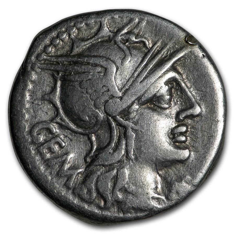 Roman Republic Silver Denarius (132 BC) Ch Fine