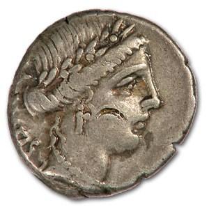 Roman Republic Silver Denarius 49 BC Man. Acilius Glabrio VF