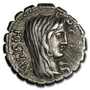 Roman Republic Silver Denarius A.Postumis (81 BC) VF (Cr-372/2)