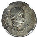 Roman Republic Silver Denarius C. Norbanus (83 BC) Ch XF NGC