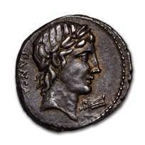 Roman Republic Silver Denarius C. Vibius Pansa (90 BC) AU