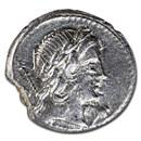 Roman Republic Silver Denarius Pub. Crepus. (82 BC) VF (Cr361/1c)