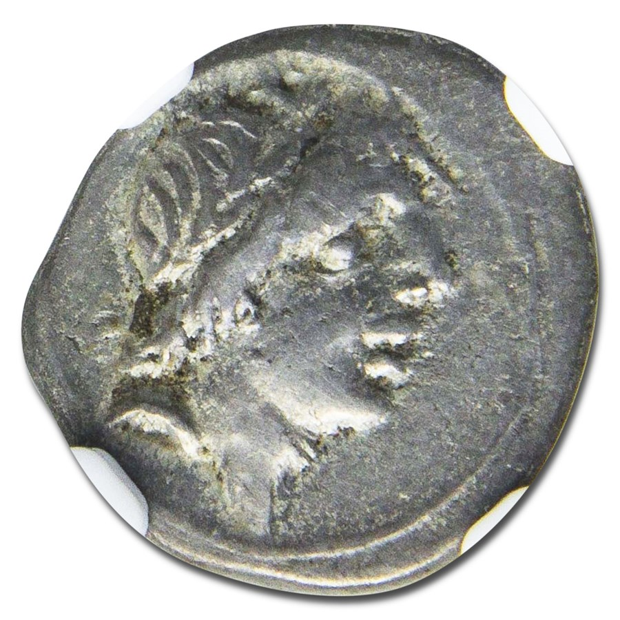 Roman Republic Silver Quinarius (c. 81 BC) Ch VF NGC