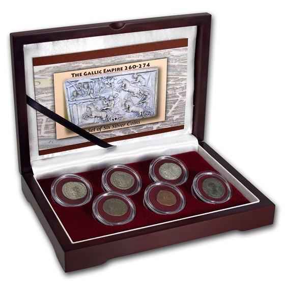 Roman Silver 6-Coin Collection The Gallic Empire