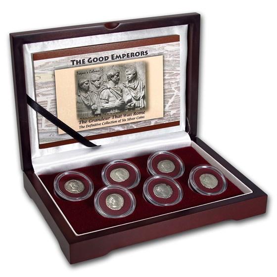 Roman Silver 6-Coin Collection The Good Emperors