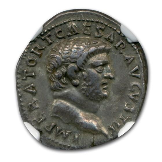 Roman Silver Denarius Emperor Titus (79-81 AD) Ch XF* NGC