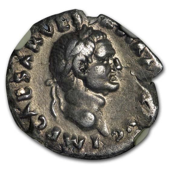 Roman Silver Denarius Emperor Vespasian (69-79 AD) CH VF NGC