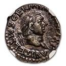Roman Silver Denarius Emperor Vitellius (69 AD) Ch AU NGC