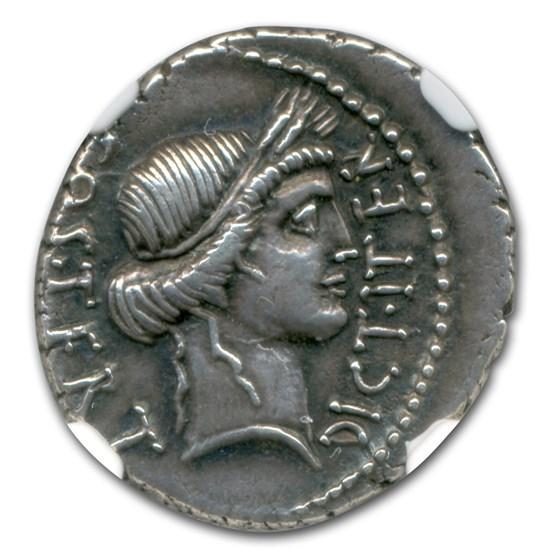 Roman Silver Denarius Julius Caesar (d 44 BC) CH XF NGC