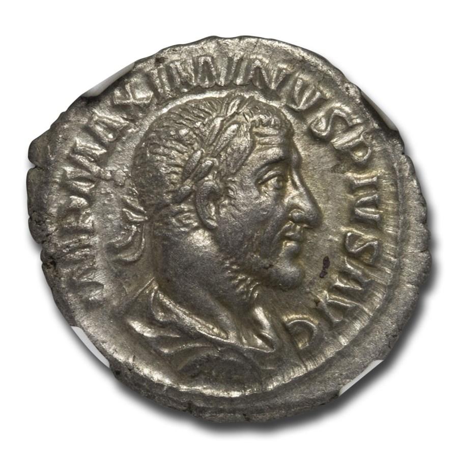 Roman Silver Denarius Maximinus I (235-238 AD) AU NGC RIC IV 14