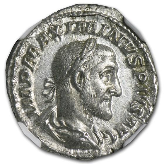 Roman Silver Denarius Maximinus I (235-238 AD) Ch-XF NGC