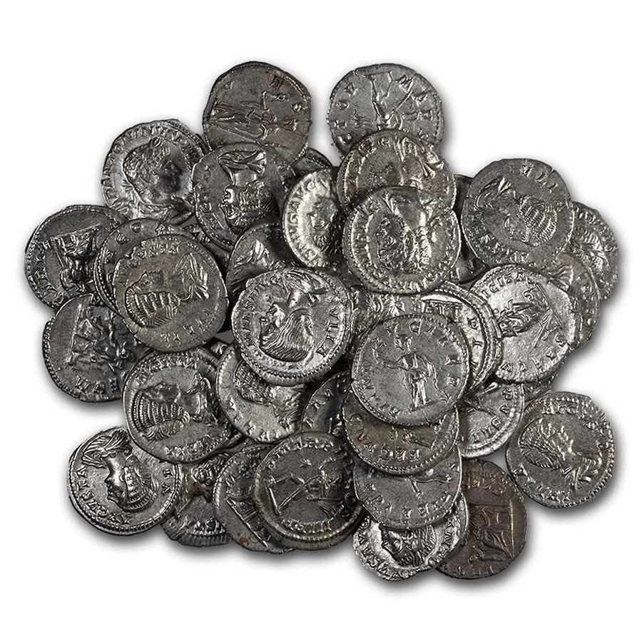 Roman Silver Denarius Random Emperors (69 AD-244 AD) AU