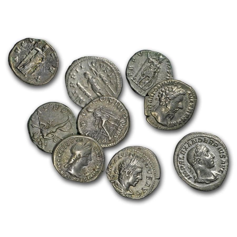 Roman Silver Denarius Random Emperors (69 AD-244 AD) VF-XF
