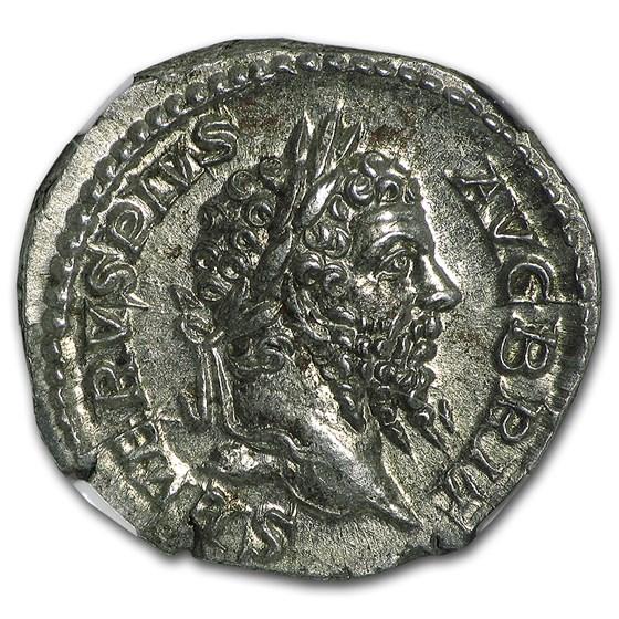 Roman Silver Denarius Septimius Severus MS NGC (193-211 AD)