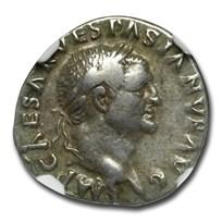 Roman Silver Denarius Vespasian (69-79 AD) Ch VF NGC (RIC II 29)