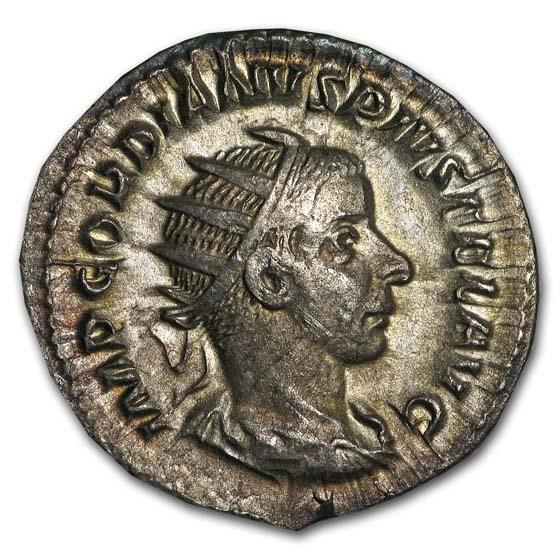 Roman Silver Double Denarius Crisis of The Third Century XF