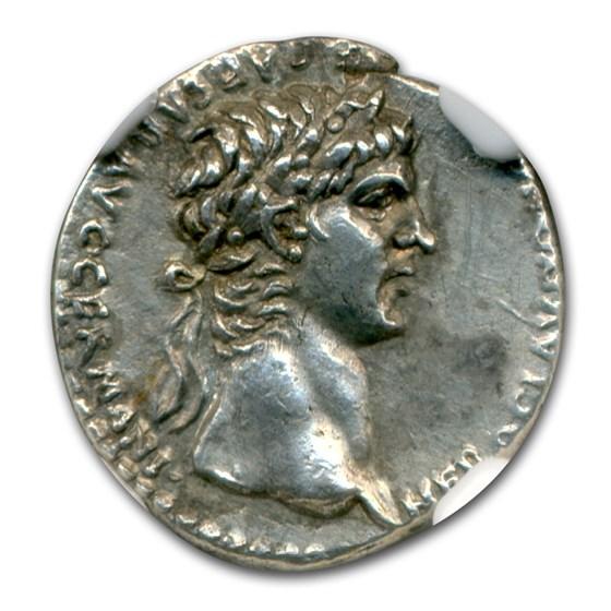 Roman Silver Hemidrachm Emperor Nero (54-68 AD) Ch AU