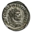 Roman Silvered Aurelianianus Emp Diocletian 284-305 AD MS NGC