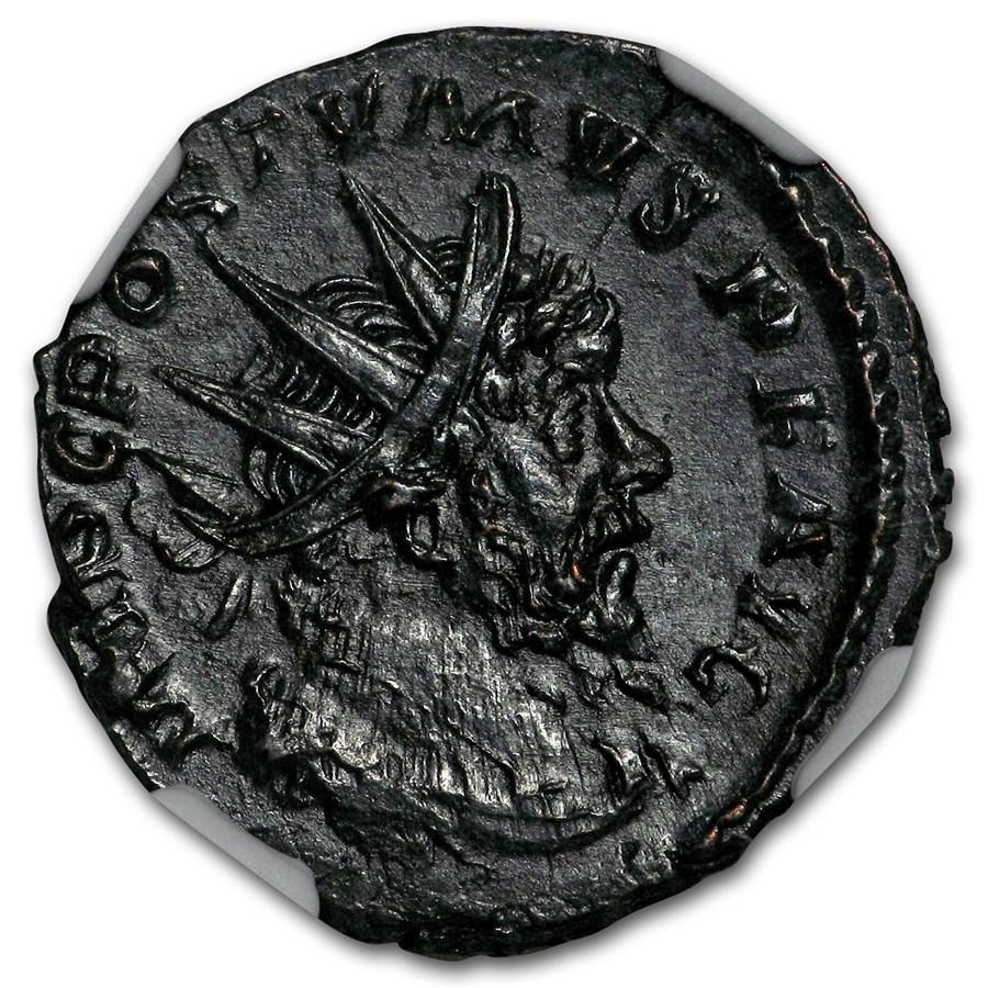 Romano-Gallic BL Dbl Denarius (260-269 AD) CH AU NGC
