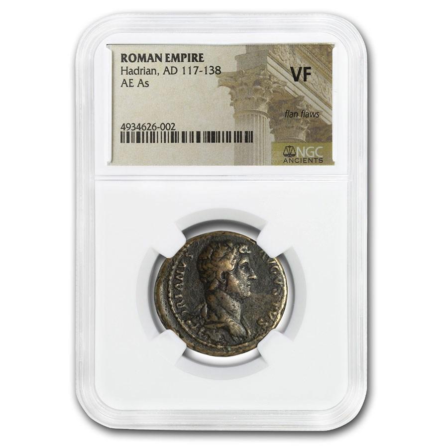 Rome AE As Emperor Hadrian (117-138 AD) VF NGC (RIC II 723)