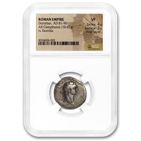 Rome AR Cistophorus Emp Domitian (81-96 AD) VF NGC (Fine Style)