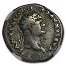 Rome AR Denarius Emp Domitian (81-96 AD) Fine NGC (RIC II 921)