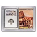 Rome AR Denarius Julia Maesa 218-224 AD XF NGC (Colosseum Hoard)
